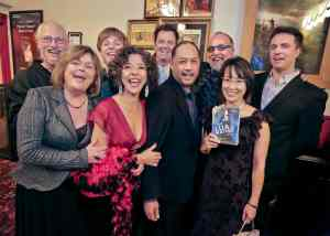 Members of global jazz ensemble Lua Hadar with Twist with their new DVD, Like A Bridge