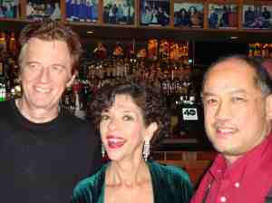 Celso Alberti, Lua Hadar, Larry De La Cruz, post-show at Yoshi's 9/30/13