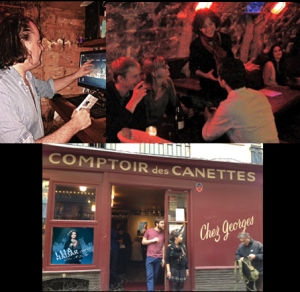 Singing at Chez Georges World Music Club and Wine Bar, an evening featuring Like A Bridge. Paris, France - June 2013